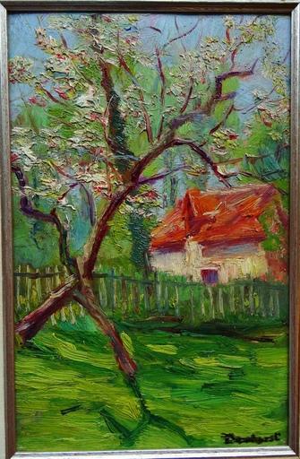 Wynford DEWHURST - Pittura - Chaumière au printemps, Creuse ?