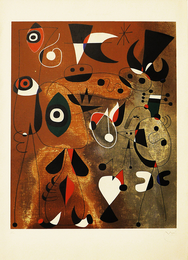 Joan MIRO - Print-Multiple - Femme, Oiseaux, Etoile