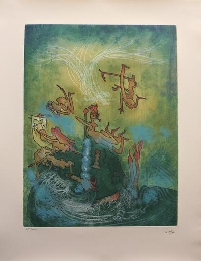 "Roberto MATTA - Print-Multiple - Hom'mere Chaosmos entitled ""Plate VI"""