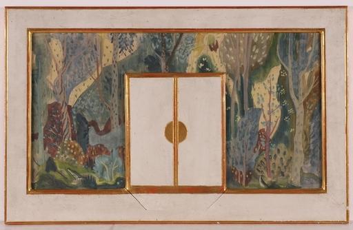 "Ena ROTTENBERG - Dessin-Aquarelle - ""Design for Wall Decoration"", 1920s, Watercolor"