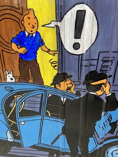 VINC - Gemälde - Malle arrière de 2CV - Tintin 2