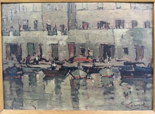 Giovanni LOMI - Painting - Livorno