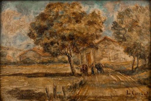 Louis Hilaire CARRAND - Pintura - chemin vers la ferme
