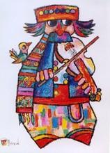 Jovan OBICAN - Painting - Fiddler #1