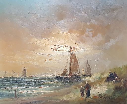 Jan BÉVORT - Painting - Marine