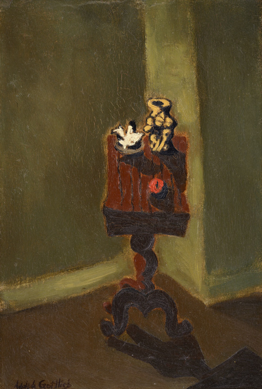 Adolph GOTTLIEB - Peinture - Untitled/ Interior with a Table