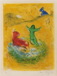 Marc CHAGALL, Le Piege a Loups, from 'Daphnis et Chloe'