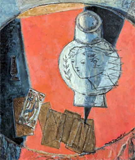 Max PAPART - Peinture - Les échecs, 1955