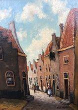 Huibert SCHALLENBERG - Painting - Straatje