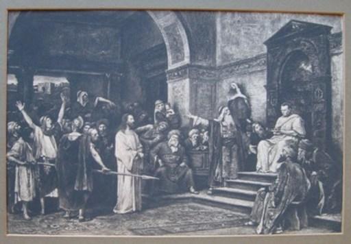 Charles-Albert WALTNER - 版画 - Christ Before Pilate