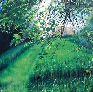 AGATE - Pintura - Une allée bien tondue