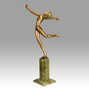 Josef LORENZL - Skulptur Volumen - Art Deco Bronze 'Kristina'