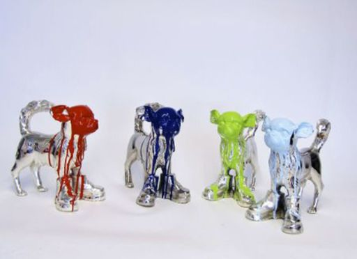 William SWEETLOVE - Estampe-Multiple - Cloned Silver plated Chihuahua