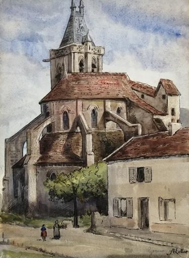 Alfred KELLER - Dibujo Acuarela - Gonesse - Val d'Oise - (KP36) -