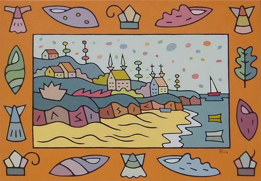 Jorge PETEIRO - Gemälde - PAISAJE CON PLAYA