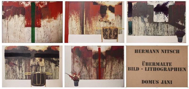 Hermann NITSCH - Print-Multiple - Ubermalte Bild - Lithographien, Domus Jani
