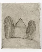 Loïc LE GROUMELLEC - Painting - Mégalithe et maison