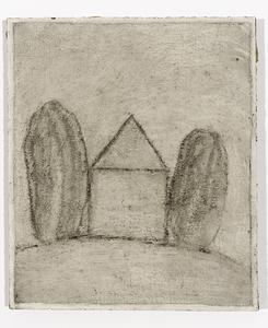 Loïc LE GROUMELLEC - Peinture - Mégalithe et maison