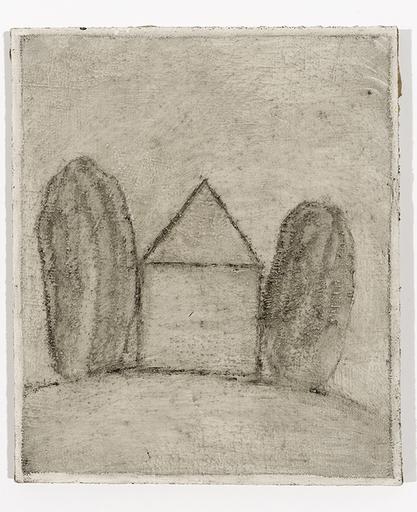 Loïc LE GROUMELLEC - Pintura - Mégalithe et maison
