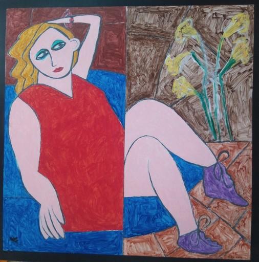 Harry BARTLETT FENNEY - Pittura - blue recliner