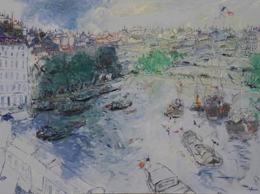 Jean FUSARO - Pintura - La Seine à contre jour