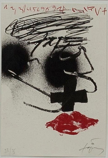 Antoni TAPIES - Print-Multiple - The Kiss