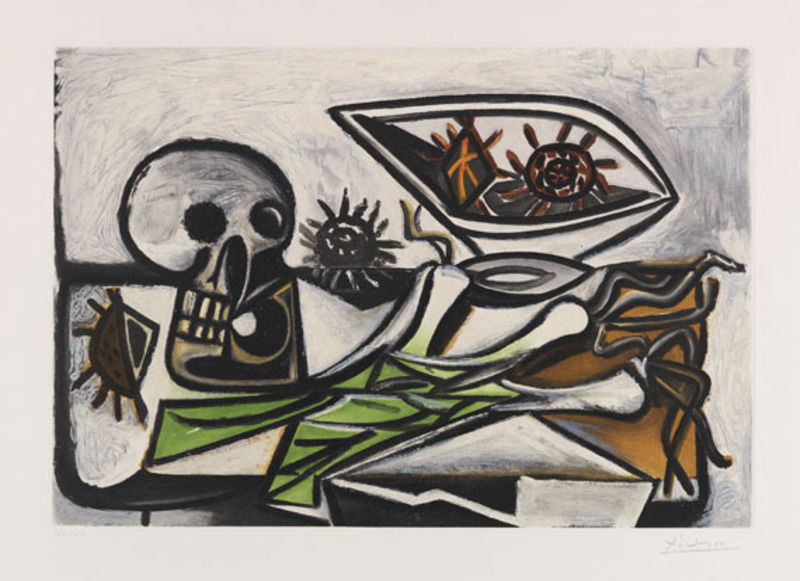 Pablo PICASSO - Print-Multiple - Nature morte au crane