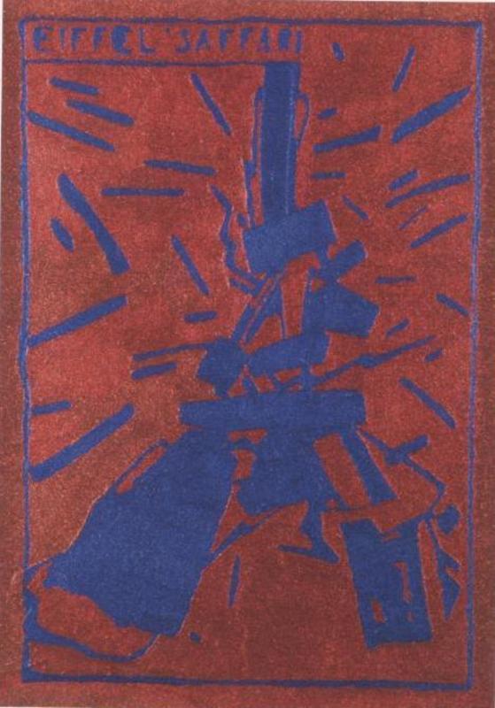 Aldo MONDINO - Gemälde - Eiffel Saffari