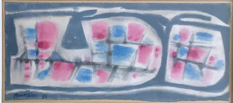 Alfred MANESSIER - Dessin-Aquarelle