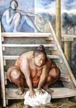 Francisco ZUÑIGA - Grabado - *La Escalera