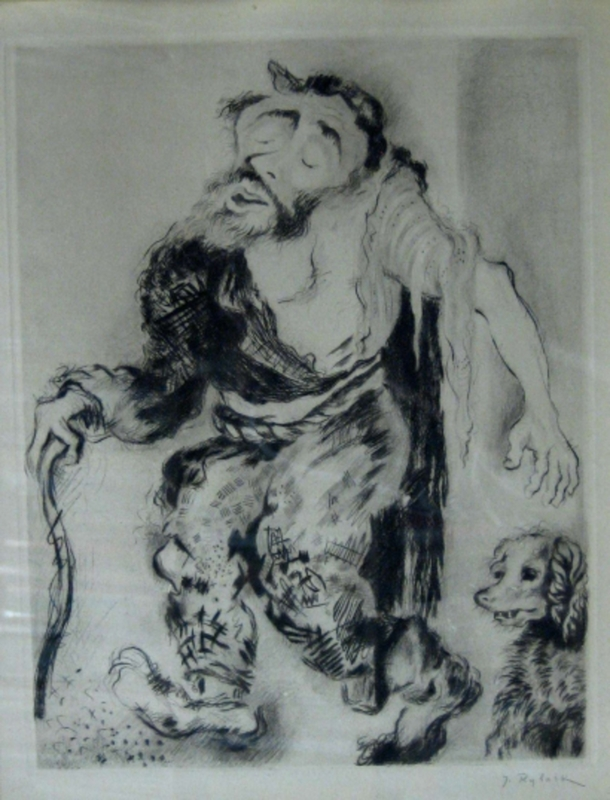 Issachar Ber RYBACK - Print-Multiple - Man with his Dog