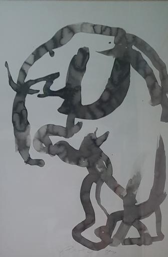 Júlio POMAR - Zeichnung Aquarell - ELEFANTE II