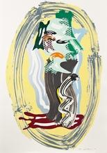 罗伊•利希滕斯坦 - 版画 - Green Face, from the Brushstroke Figures Series