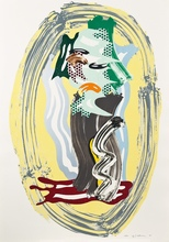 Roy LICHTENSTEIN - Print-Multiple - Green Face, from the Brushstroke Figures Series
