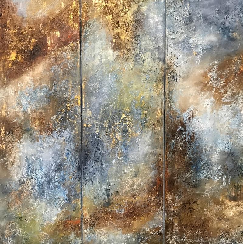 Diana MALIVANI - Peinture - Listening to Chopin. Triptych