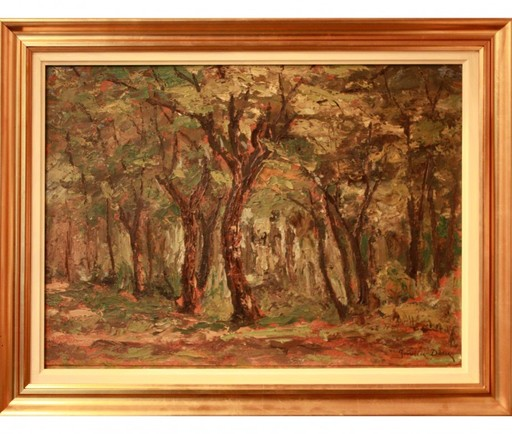 Ion DORU - Painting - Forest Landscape
