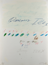 Cy TWOMBLY - Grabado - Ilex Quercus (from Natural History, Part II: Some Trees of I