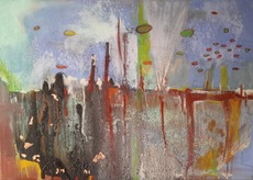 Ewa WITKOWSKA - Pintura - Cityscape