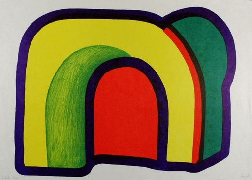 Howard HODGKIN - Print-Multiple - Composition with red