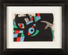 Joan MIRO (1893-1983) - Le lézard aux plumes d´or