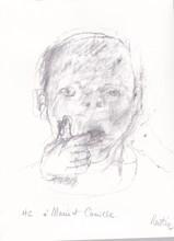 Jean RUSTIN - Grabado - portrait d enfant
