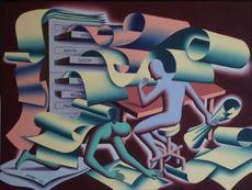 Mark KOSTABI - Painting - Papermates