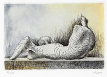 Henry MOORE - Stampa Multiplo - Reclining figure back
