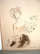 Roland OUDOT (1897-1981) - Jeune fille aux fleurs