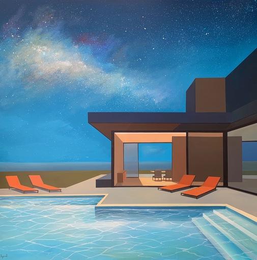 Daniel RAYNOTT - Pintura - California night