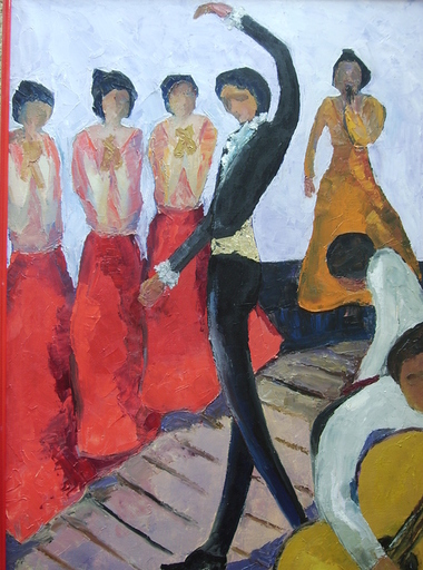 Serge SIEVIC - Peinture - SEVILLANA