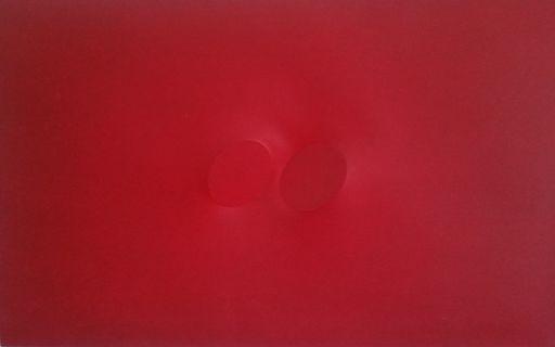 Turi SIMETI - Gemälde - TWO RED OVALS