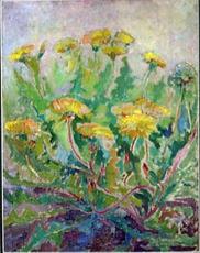 Pavel Varfolomeevich KUZNETSOV - Painting - Blowballs