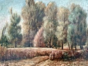 Zoltán KLIE - Painting - Wood Landscape