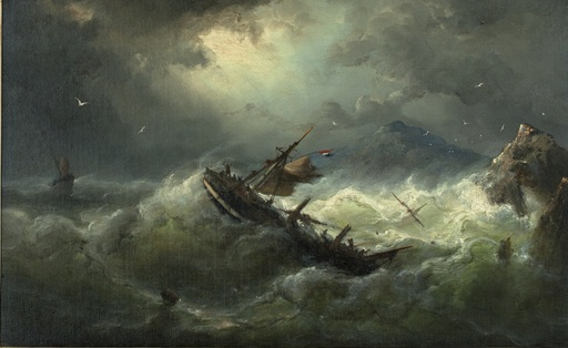 Nicholaas RIEGEN - Painting - Stormy Weather